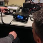 Demo-ing ICOM IC-7300 at the club