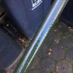 Pole with white tectyl