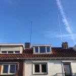 HF mast on the roof