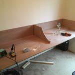 Work in progress radio room desk
