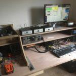 The new radio room desk